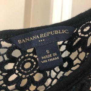 Banana Republic Dresses - Black banana republic dress with lace at top